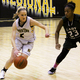 Bordentown High basketball player Morgan Papp dribbles past a Pemberton player during a 59-46 home loss Feb 15 2017 Papp scored her 1000th point Feb 11 She is also a member of the Bordentown bowling team Staff photo by Samantha Sciarrotta