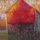 'Small Barn in Afternoon Autumn Shadows' by Bob Richey.