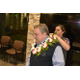 Lautaha places lei on Chief Russo's shoulders during the introduction of her husband to the department. (Dan Metcalf/Cottonwood Heights)