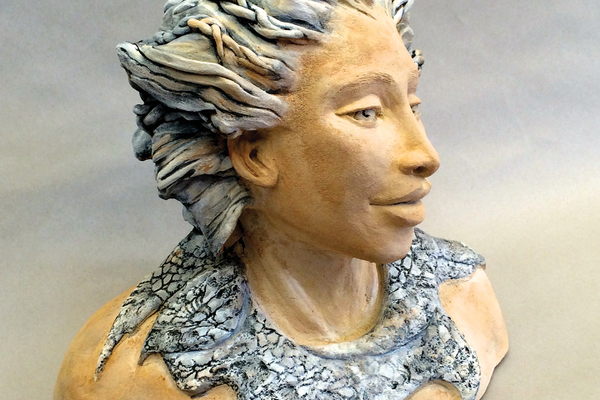 Sculptural commission for the Auberge Hotel on the island of Anguilla - one of four exotic  female busts.