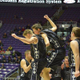 Corner Canyon players celebrate knocking off No. 1 seed Maple Mountain in the 4A quarterfinals 69-67. It earned the Chargers its first trip to the 4A semifinals in school history. (Corner Canyon Basketball)