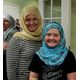 "Jenelle and Monae Kingler show off their new look after enjoying the presentation ""Meet the Muslims."" (Keyra Kristoffersen/City Journals)"