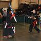 Christopher James Holloway and Balthazar Cruz practice their swordplay skills against each other using foam bats.(Keyra Kristoffersen/City Journals)
