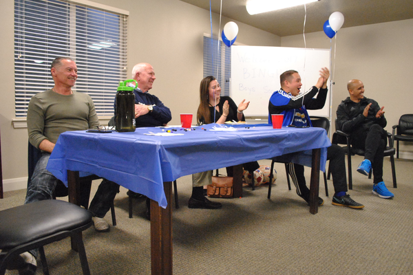 Bingham soccer coaches, of the past and present sit at the table of honor during the team's first banquet (Billy Swartzfager/City Journals)
