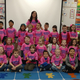 Mrs Sheffield's kindergarten class wears matching pink shirts to show support for classmates. (Jet Burnham/City Journals)