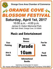 Medium orange cove ca blossom festival