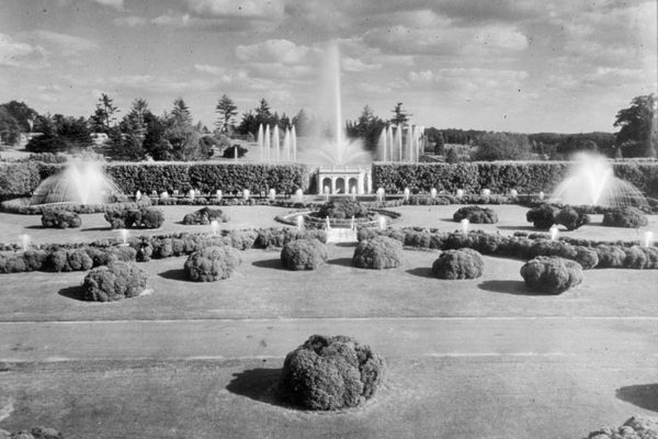 The Longwood Gardens Main Fountain Garden as it appeared in its early days. (Courtesy photo)