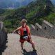 Wendy Weixler running her first marathon on the Great Wall of China. (Wendy Weixler)