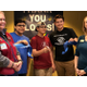 Three members of the Boys & Girls Club cut the ribbon to open the new bathrooms to the public. (Natalie Mollinet\City Journals).