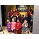 Kids making goofy faces while taking pictures with the Lowes team in front of their new bathrooms. (Natalie Mollinet\City Journals).
