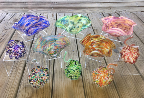 Glass 20flared 20bowls 20and 20flowers