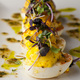 Deviled Eggs with truffle-chive vinaigrette.