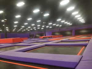 Medium purple trampolines