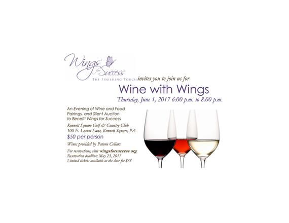 Wine with wings invitation