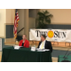 Matthew Sheehan, who is vying for his fourth term on the School Committee, and challenger Sabrina Heisey, sparred over a variety of topics,