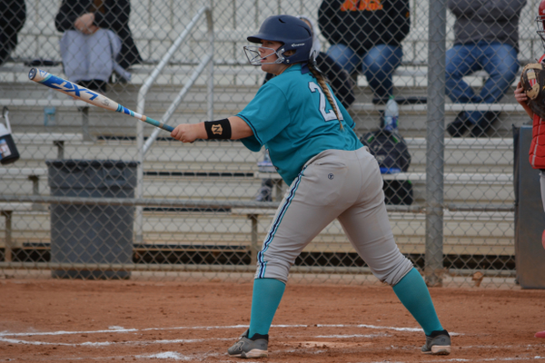 Freshman Allie Madsen had launched five home runs already this season before Easter. Head coach Paul Archuleta said she has an unbelievable work ethic. (DeAnn Madsen/Juan Diego softball)