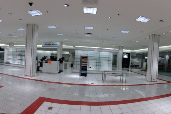 Empty third floor of Holladay Macy's, days before Macy's officially closed. (Aspen Perry/City Journals).