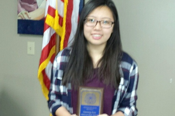 Hillcrest High School student Soyoung Jeon recently was honored as Youth of the Month by the Sandy Exchange Club.  (Sandy Exchange Club)