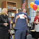 "The Jordan Education Foundation's ""prize patrol"" arrives at Columbia Elementary to award teacher Susan Locke. (Jet Burnham/City Journals)"