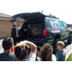 Meteorologist Sterling Poulson talks with students about weather forecasting. (Jet Burnham/City Journals)
