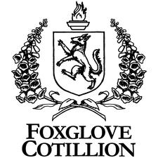 Medium foxglove cotillion logo stacked  black on white 700px wide