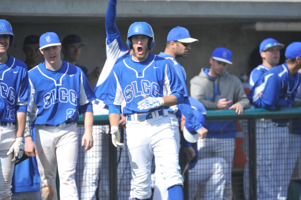 The Bruins have celebrated several great wins this season; their region tournament is scheduled to begin May 11. (Steve Speckman/SLCC Athletics)