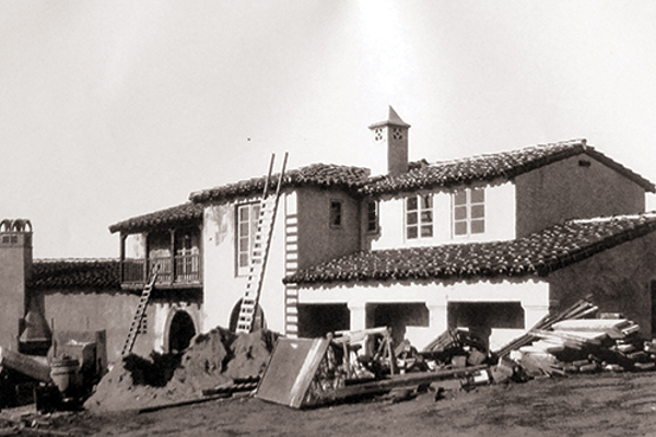 The Goldschmidt House under construction, 1928