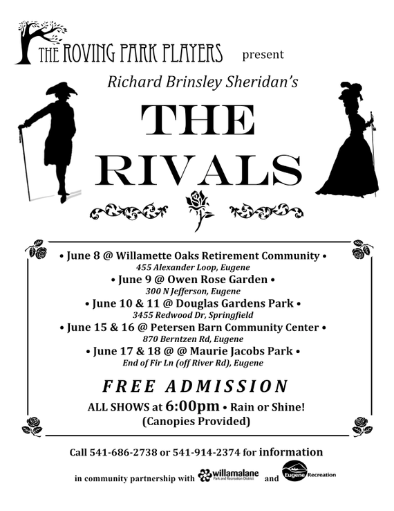 Roving Park Players present THE RIVALS