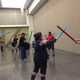 A Jedi instructor taught lightsaber fencing techniques. (Natalie Conforto/City Journals)