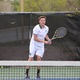 No. 2 singles player Cole Marshall serves against Skyline. (Travis Barton/City Journals)