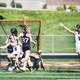 Kennedy Flavin celebrates after assisting on a goal during the state quarterfinals her junior year. (Brighton High School Yearbook)