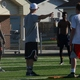 Murray linebackers and defensive backs receive instruction during a spring workout. (Carl Fauver/City Journals)