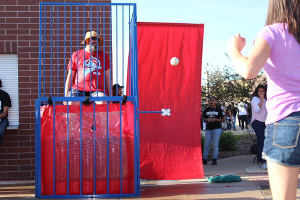 The celebration included a dunk tank. Latinos in Action prepared all year for the event. (Travis Barton/City Journals)