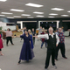 "The cast of ""Curtains"" practices dance moves for the number ""Show People"" at West Jordan's old library. (Natalie Conforto/City Journals)"