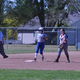A Bingham softball player trots into second for a standup double. (Billy Swartzfager/City Journals)