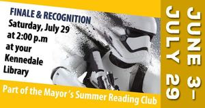 Summer Reading Finale  Recognition - start Jul 29 2017 0200PM