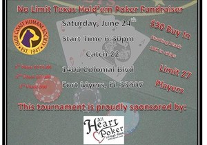 GCHS Poker Tournament Fundraiser - start Jun 24 2017 0630PM