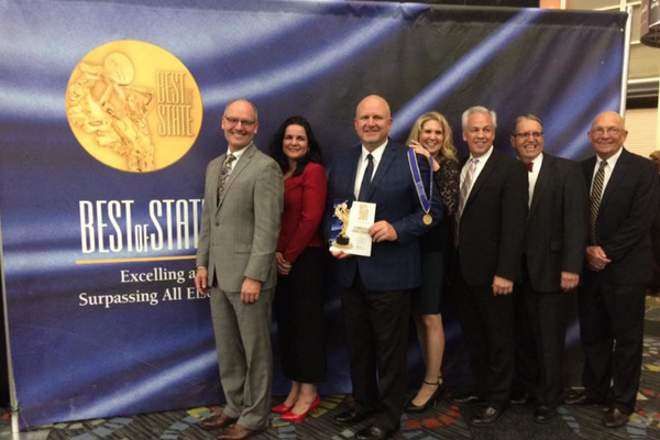 A handful of city leaders attended the Best of State Awards Gala to support Berndt, Kinder and their team. (Cottonwood Heights City)