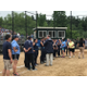 Members of the Dracut High softball team receive their medals for reaching the state final.