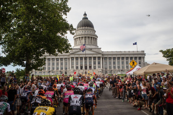 Salt Lake City welcomes international cyclists at the Tour of Utah. (Jonathan Devich)