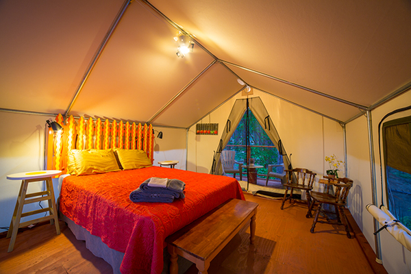 Glamping, $85-$120 per night at Inn Town Campground, 9 Kidder Court, Nevada City. 530-265-9900, inntowncampground.com