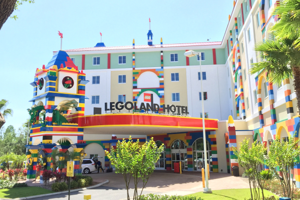 LEGOLAND Motel is just outside LEGOLAND Florida, about an hour east of Tampa. The nexus is built for kids with parents in mind. Photo by Mandy Carter.
