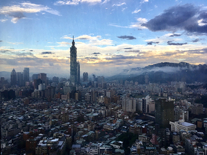 Medium taipei skyline
