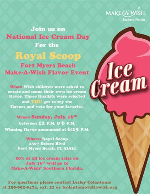 2017 national ice cream day flyer