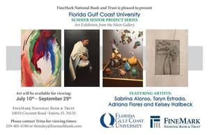 FineMark Exhibtion of FGCU Art Alumni - start Jul 10 2017 0900AM