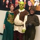 "From left, Cadence Dobson as Princess Fiona, Kagan Vann as Shrek and Caleb Massari as Donkey before the production of ""Shrek: The Musical Jr."" at the North Fort Myers Academy for the Arts on June 23."
