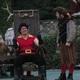 Gaston (John Dingle) and his loyal sidekick, LeFou (Chaz Meyers).