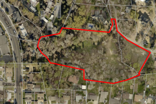 The area for consideration of a General Plan amendment under Ordinance 273, south of Milne Lane. (Cottonwood Heights City)
