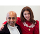 "Madeline Best as Annie and Rohit Raghavan as Daddy Warbucks in Cottonwood Heights Art Council's ""Annie."" (Kristen Pedersen)"
