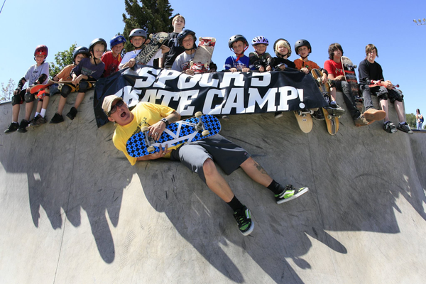 Spock has been running these skate camps for 14 years. (Eric Uequillas/Holladay)